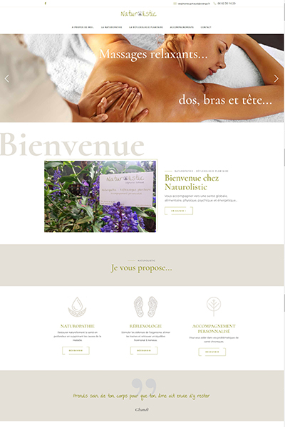 creation site web novembre 2019 Graines de web Naturolistic https naturolistic fr