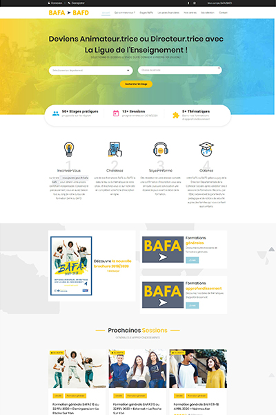 realisations site web creation site web www.bafa bafd ouest.fr graines de web